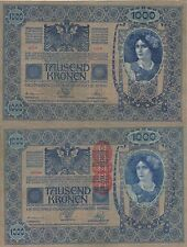 AUSTRIA 1000 KRONER. 2 de Junio de 1902. Serie 1487. Nº 52389. Tamaño 193x130.