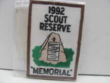 Embroidered 1992 Scouts Reserve Memorial Patch