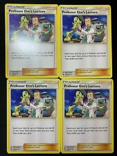 4x Professor Elm's Lecture - 188/214 - Uncommon Lost Thunder NM+ Pokemon Card