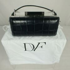 Diane Von Furstenberg Blue&Cream Clutch/Shoulder Bag w/removable straps 22x11cm