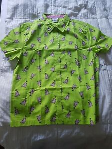 Brand New Disney Parks~ Figment Button Down Shirt (Men's Size Medium)New W/ Tag