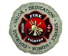 New listing Firefighter Dedication Stepping Stone Hanging Plaque [#12940] by Spoontiques