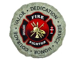 Firefighter Maltese Cross Stepping Stone Wall Plaque, NIB [12940] by Spoontiques