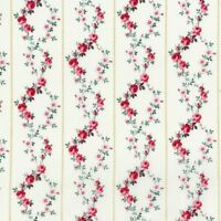 Rosette~Pink Floral Garland on Ivory Cotton Fabric by RJR Fabrics