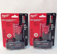 2 x Milwaukee 48-11-2460 M12 RED LITHIUM XC 6.0 Extended Capacity Battery Sealed