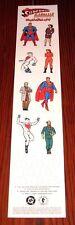 VINTAGE NEW 1997 SUPERMAN MADMAN HULLABALOO PAPER TOY DOLL PROMO SET DC COMICS