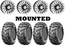 Kit 4 CST Ancla Tires 28x9-14/28x11-14 on ITP SD Dual Beadlock Polished IRS