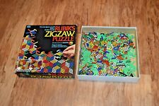 Rubik's Puzzle Zigzaw Jigsaw Puzzle 131 Pieces 81 Frog shaped Complete Rare