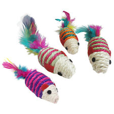CS 5X Toy knitted Mouse Scratching post for Cat Multicolored V3F5