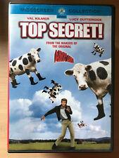 VAL KILMER TOP SECRET ~ 1984 Spy Comedia Parodia Clásica RARO REGIÓN 1 US DVD