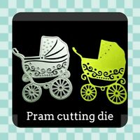 Metal Cutting Die - PRAM - BABY - Card Making - Scrapbooking - Crafting - UK