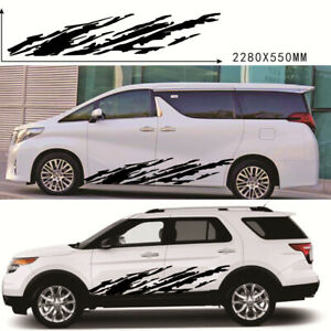 2PCS Mud Splash Bed-side Vinyl Decal Graphics Fit For Ford Chevy Body Decoration
