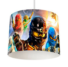 Lego Ninjago Movie (055) Boys Bedroom Drum Lampshade Light Shade