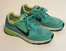 Women size 8.5 NIKE Air Zoom Fly 2 Sneakers Running Shoes Turquoise Yellow