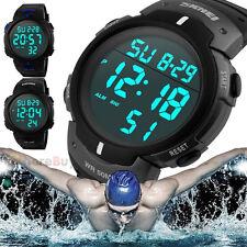 Fashion Waterproof Men's Boy LCD Digital Stopwatch Date Rubber Sport Wrist Watch