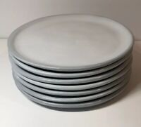 Pottery Barn Set Of 7 Light Gray Ombre Salad Or Dessert Plates 8.5""