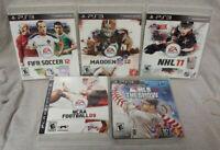 PS3 Sony Playstation 3 Sport GAME Lot Madden NFL Fifa Soccer NCAA MLB NHL Hockey