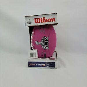 """Super Bowl XLV """"The Duke"""" PINK Wilson Mini Football, Brand New, Unopened, 2013"""