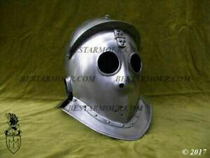 Medieval Gladiador Casco Caballero Armor Casco Battlefild Casco Larp Recreación