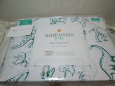 Authentic Kids Full Sheet Set DINO DINOSAURS ZONE ~ Blue and Green NEW