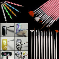 20PCS Nail Art Brush Design Dotting Painting Drawing Polish Pen Brush Tools Sets