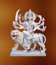 "60"" Marble Murti Maa Durga Handmade Art Hinduism Religious Gift Home Decor E743"