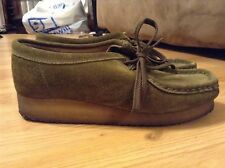 Womens Clarks Wallabees Originals Green Suede Casual Comfort Shoes Size 7M