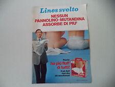 advertising Pubblicità 1981 PANNOLINI LINES SVELTO
