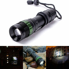 CREE XM-L Q5 LED Flashlight 3000 Lumen Zoomable Zoom Lamp Black New US SELLER