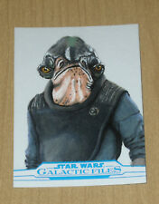 2018 Topps Star Wars Galactic Files 1/1 sketch card Steve Fuchs RADDUS