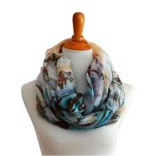 Soft Coconuts Tree Light Weight X-large Infinity Scarf Loop Cowl-Sand