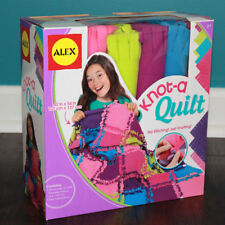 Knot A Quilt Kit Alex Toys Craft New In Box ~ No Stitching! No Sewing! Knotting!