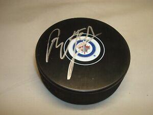 Tyler Myers Signed Winnipeg Jets Hockey Puck Autographed 1B