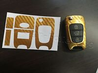 Carbon Chrom Gold Folie Schlüssel KIA Sportage Sorento Picanto Venga Soul Ceed