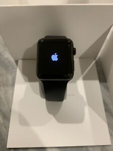 Apple Watch Series 2 | 42mm Space Black Stainless Steel Case | Black Sports Band