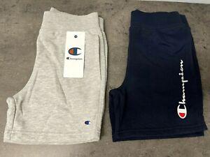 NEW Champion Youth Boys M, L 2-pack Shorts Navy, Grey Logo Script