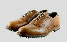 Allen Edmonds Honors Collection First Cut Men's Golf Shoes Sz 10 (E) Wide Brown