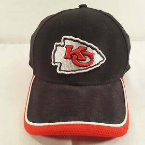 NFL KC Kansas City Chiefs Ball Cap L X-LG Team Classic New Era 39Thirty Black