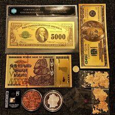 Gold Silver Investment Lot Assay Card Gemstone & Bullion Old Numismatic Bill