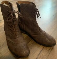 Shoe Embassy Ladies Leather Ankle Boots ~ Size 36 EUC