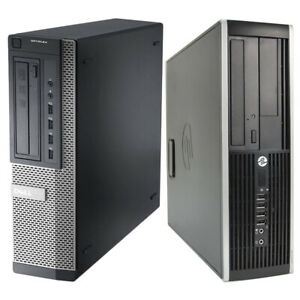 Computer DELL HP Core i5 SFF Desktop PC 8GB RAM 480GB SSD Fast Win 10 WiFi