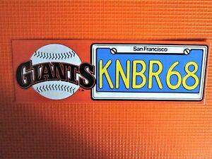 Vintage 1987 San Francisco Giants, Radio Station KNBR 68 Decal