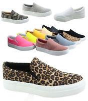 Women's Slip On Double Layer Foam Padded Cushion  Fashion Sneakers Size 5.5 - 11