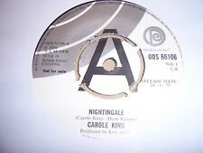 "CAROLE KING Nightingale ODE RECORDS 1975 UK PROMO 7"" SINGLE EXCELLENT"