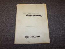 Hitachi UH172 Roadbuilder Excavator Hydraulic Components Parts Catalog Manual