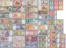 50 Different World MIX Foreign Banknotes,Currency, Uncirculated, Crisp Condition