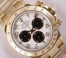 Rolex Daytona 116528 18k Yellow Gold-White/Black Arab Dial-18k Gold Bezel-2Y WTY