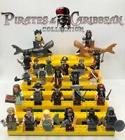 Pirates of the Caribbean Minifigures Custom Mega Set For Lego.24 Minifig 2 Shark