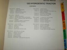 John Deere 120 Hydrostatic Tractor Technical Service Manual , issued 1970