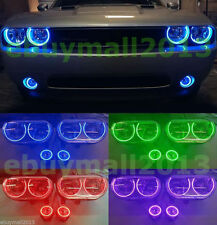 6 x RGB Halo Rings For Challenger 08-14 Devil Demon Angel Eyes Fog Lights DRL